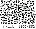 人影 影 シルエットのイラスト 11024862