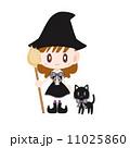 魔女 仮装 女の子のイラスト 11025860
