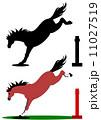 ジャンプする馬 11027519