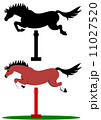 ジャンプする馬 11027520