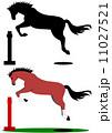 ジャンプする馬 11027521