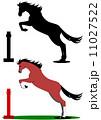 ジャンプする馬 11027522