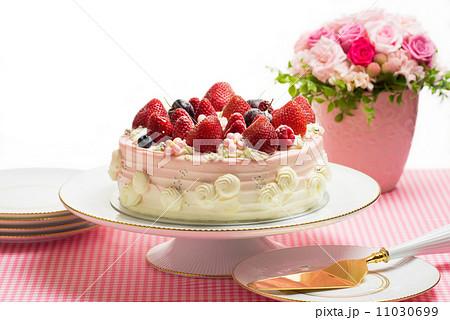 ケーキケーキ バラの花 11030699