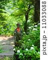 仏像 花 紫陽花の写真 11033088