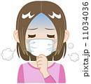 体調不良 風邪 人物のイラスト 11034036