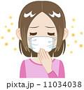 花粉対策 女性 人物のイラスト 11034038