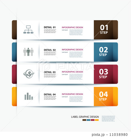 vector business step paper data and numbers design template の