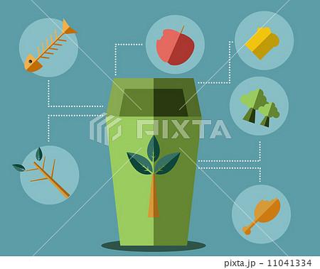 Green Bin Concept Vectorのイラスト素材 [11041334] - PIXTA