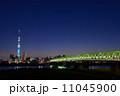 夕暮れ時の東京スカイツリー 11045900