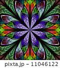 フラクタル ステンドグラス 窓のイラスト 11046122