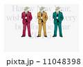 スーツ羊の年賀状テンプレート 11048398