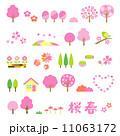 ベクター 花びら 桜のイラスト 11063172