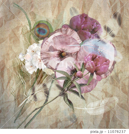 floral design iris, bouquetのイラスト素材 [11076237] - PIXTA