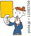 イエローカード ベクター 女性のイラスト 11083709