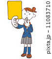 イエローカード ベクター 女性のイラスト 11083710