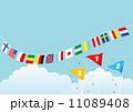 順位の旗,青空,万国旗-2 11089408