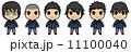 男子学生(黒髪) 11100040
