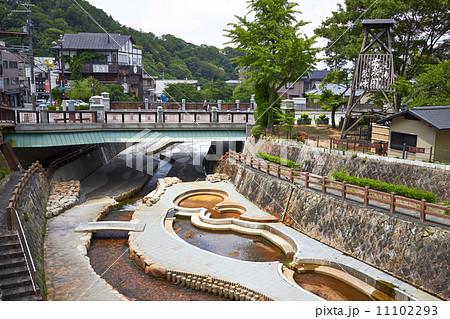 有馬温泉 有馬川親水公園と太閤橋 11102293