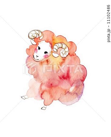 羊、桃色のイラスト素材 [11102486] - PIXTA