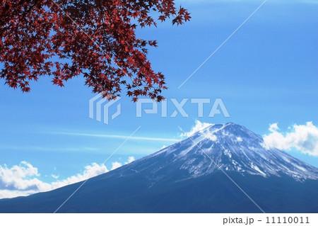 紅葉と富士山 11110011