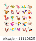 Bird vector icon set 11110825
