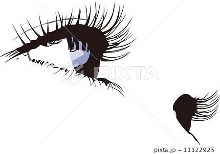 女性 瞳 まつげ のイラスト素材 11122925 Pixta