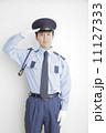 敬礼 警備員 警備の写真 11127333