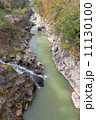 渓流 厳美渓 河川の写真 11130100
