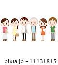 行列 人々 並ぶのイラスト 11131815