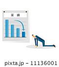 グラフ 業績 人物のイラスト 11136001