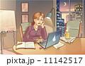 ホワイトボード コンピュータ パソコンのイラスト 11142517