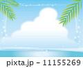 空と海の背景フレーム 11155269