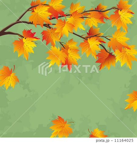 vintage autumn wallpaper leaf fall backgroundのイラスト素材