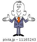 両側を紹介するビジネスマン 11165243