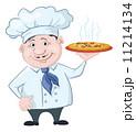 料理 厨房 ピザのイラスト 11214134