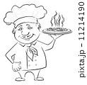 料理 ピザ ピッツァのイラスト 11214190