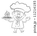 料理 ピザ ピッツァのイラスト 11214193