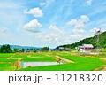 田園 田んぼ 空の写真 11218320