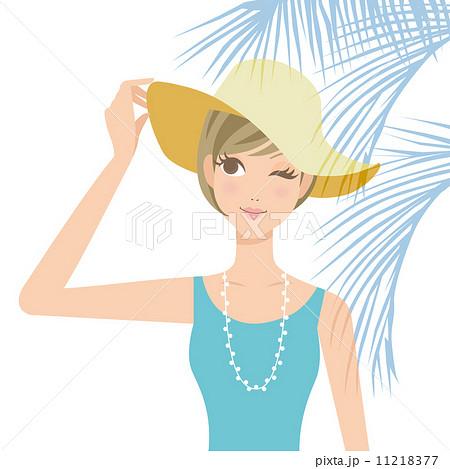 紫外線対策  女性 帽子 11218377