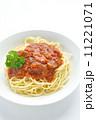 スパゲティー ミートソーススパゲティ パスタの写真 11221071
