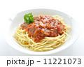 スパゲティー ミートソーススパゲティ パスタの写真 11221073