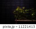木造建築物の壁と笹の葉の飾り・飛騨古川 11221413