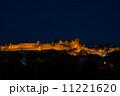 世界遺産・歴史的城塞都市カルカソンヌ・夜景 11221620
