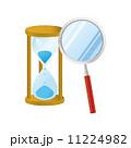 砂時計 虫眼鏡 時間 時刻 11224982