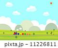 蒸気機関車 ローカル線 機関車のイラスト 11226811