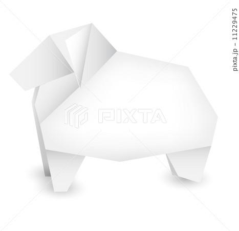 ハート 折り紙:年賀状 折り紙-pixta.jp