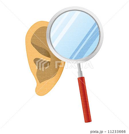 耳と虫眼鏡 11233666