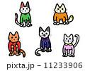 服を着た猫 11233906