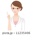 指差し 看護師 人物のイラスト 11235406