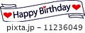 ロゴ happybirthday ベクターのイラスト 11236049